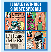 IL MALE, rivista di satira, con i falsi numeri del Male: 1978, 1979, 1980, 1981